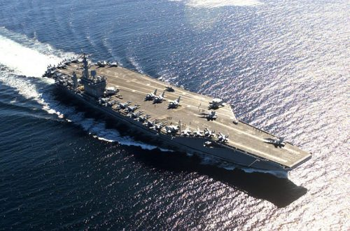 USS Nimitz aircraft carrier