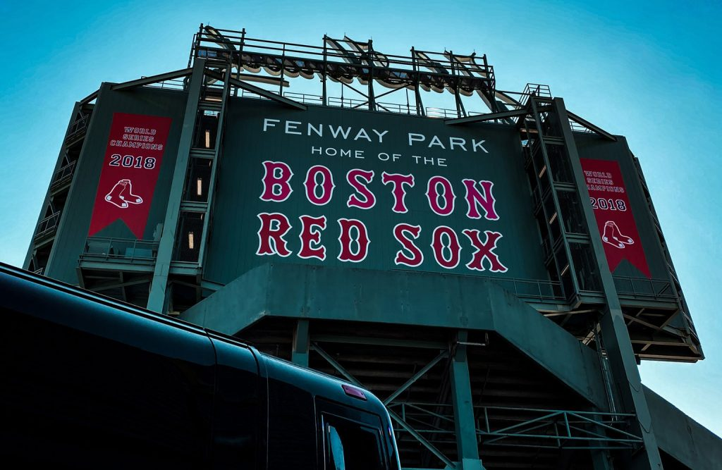 Fenway Park, home of the Boston Red Sox baseball team.