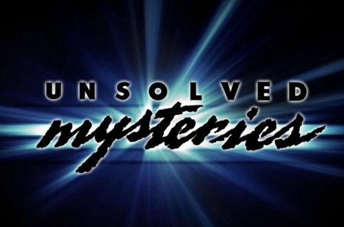 Unsolved Mysteries logo from the original series.