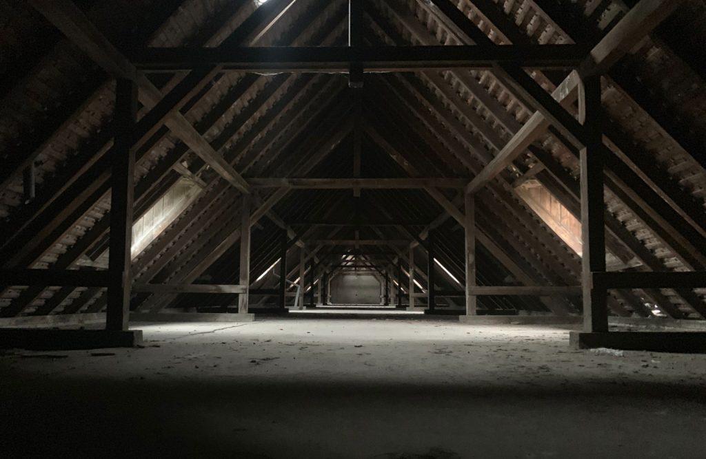 Dirty attic.