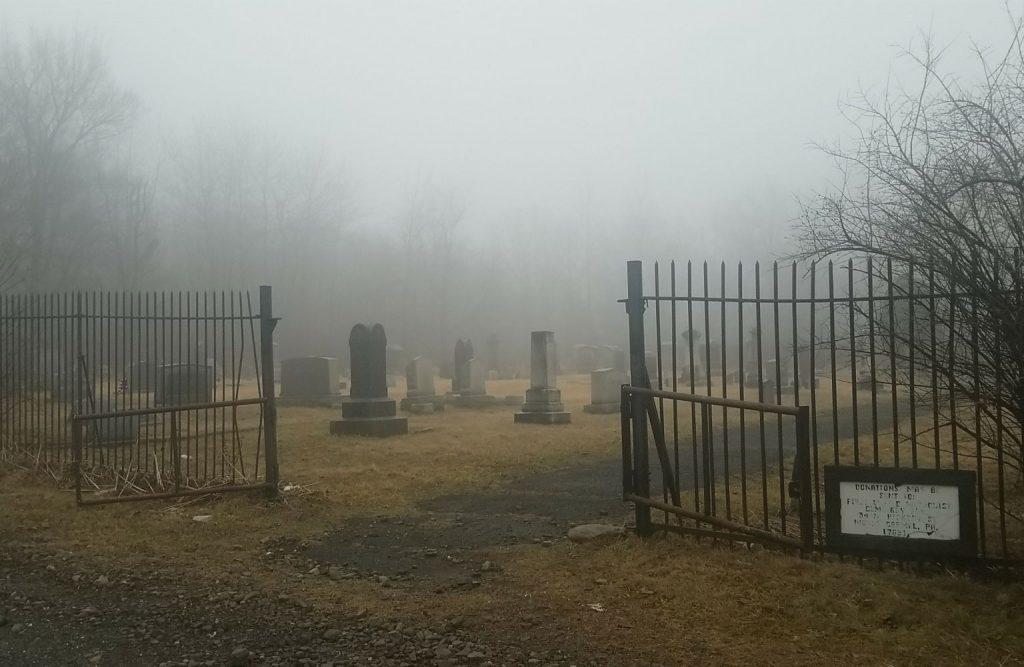 Graveyard in Centralia, PA.